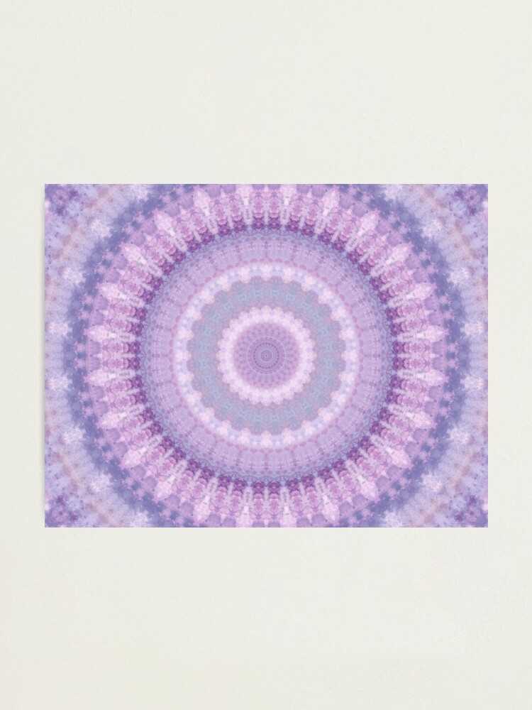 Alternate view of Lilac Kaleidoscope Photographic Print