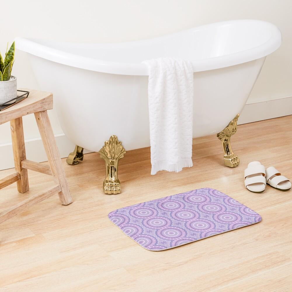 Lilac Kaleidoscope Bath Mat