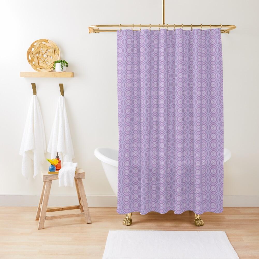 Lilac Kaleidoscope Shower Curtain
