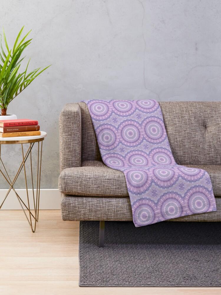Alternate view of Lilac Kaleidoscope Throw Blanket