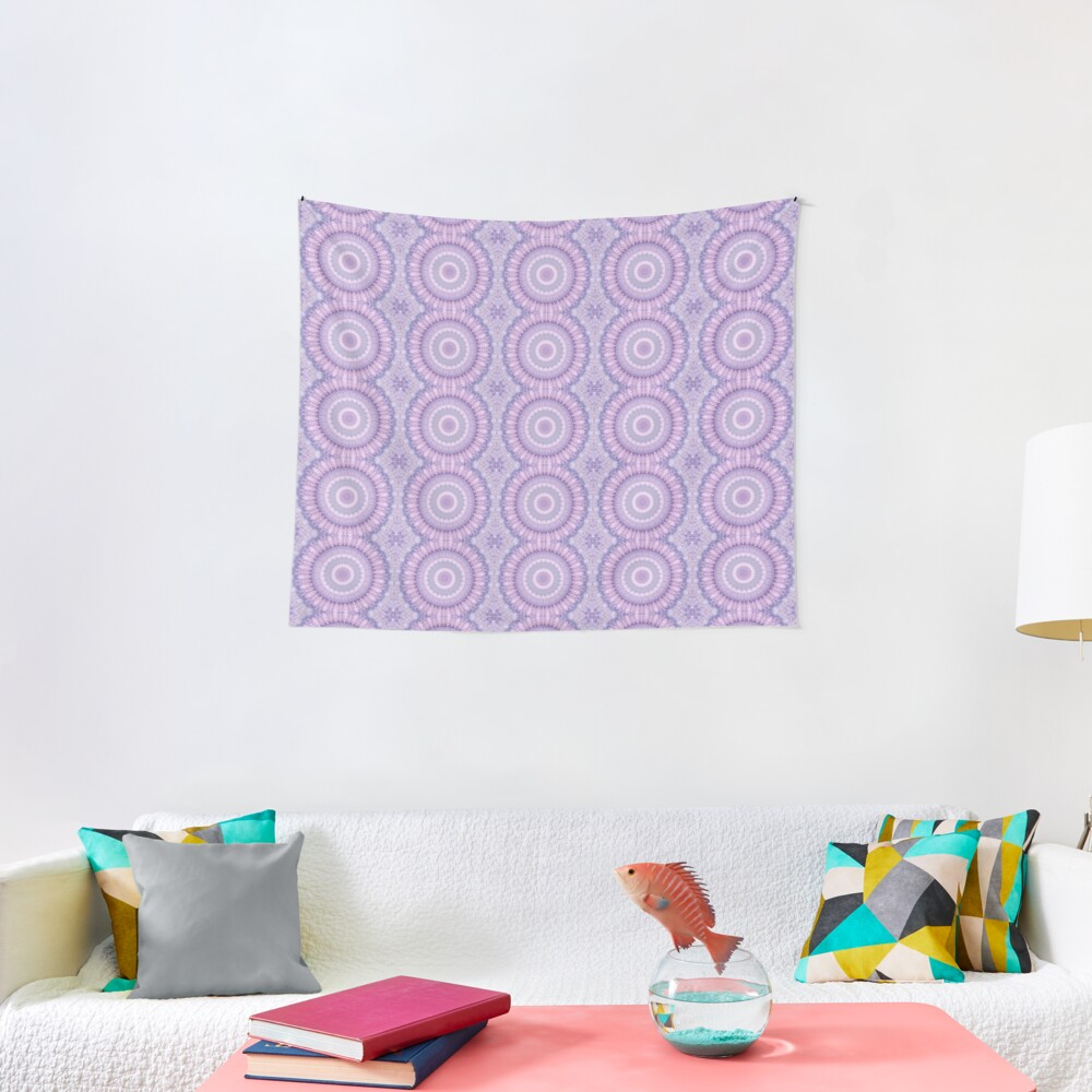 Lilac Kaleidoscope Tapestry