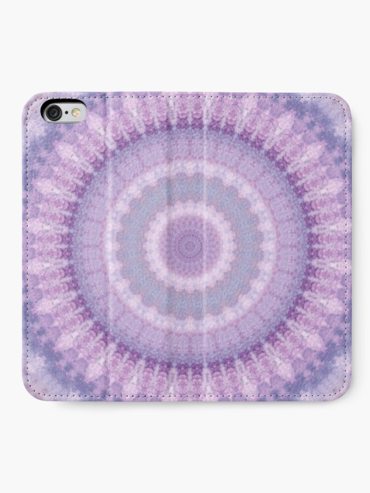 Alternate view of Lilac Kaleidoscope iPhone Wallet