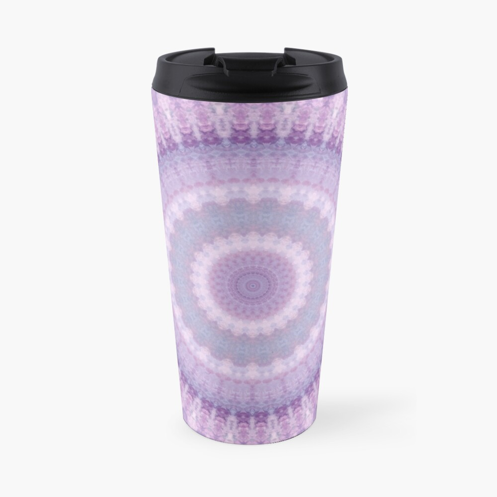 Lilac Kaleidoscope Travel Mug