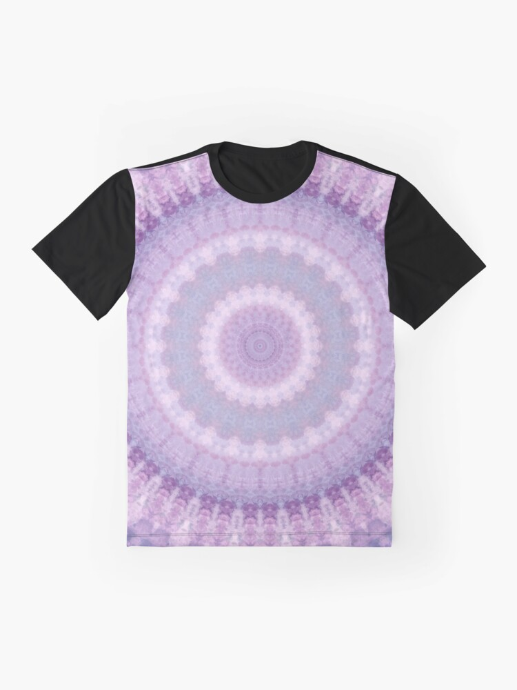 Alternate view of Lilac Kaleidoscope Graphic T-Shirt