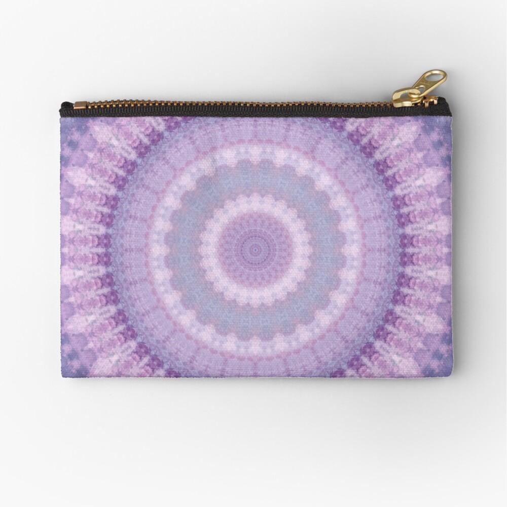 Lilac Kaleidoscope Zipper Pouch