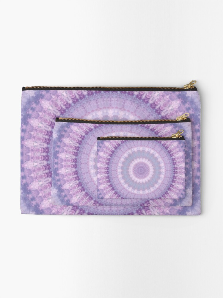 Alternate view of Lilac Kaleidoscope Zipper Pouch