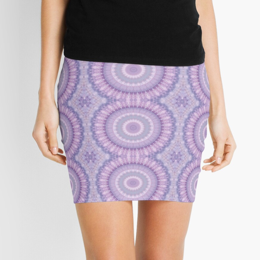 Lilac Kaleidoscope Mini Skirt