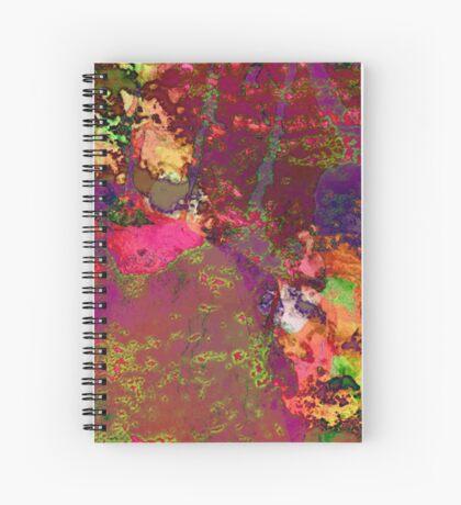 Paw Prints Paint Splash Spiral Notebook