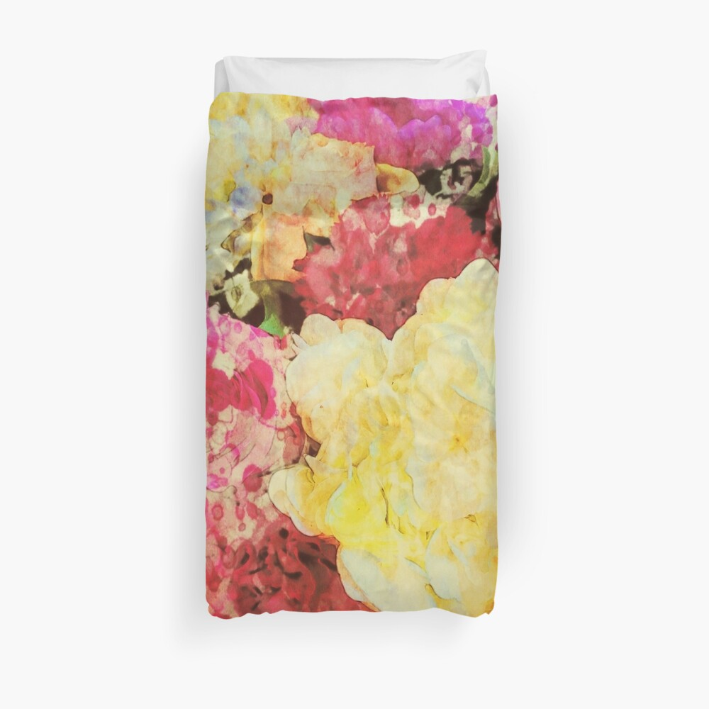 Springtime Bouquet Art Duvet Cover