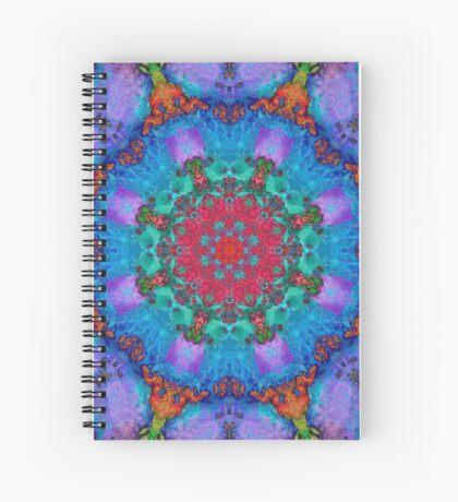 Barnie Paw Print Kaleidescope 3 Spiral Notebook