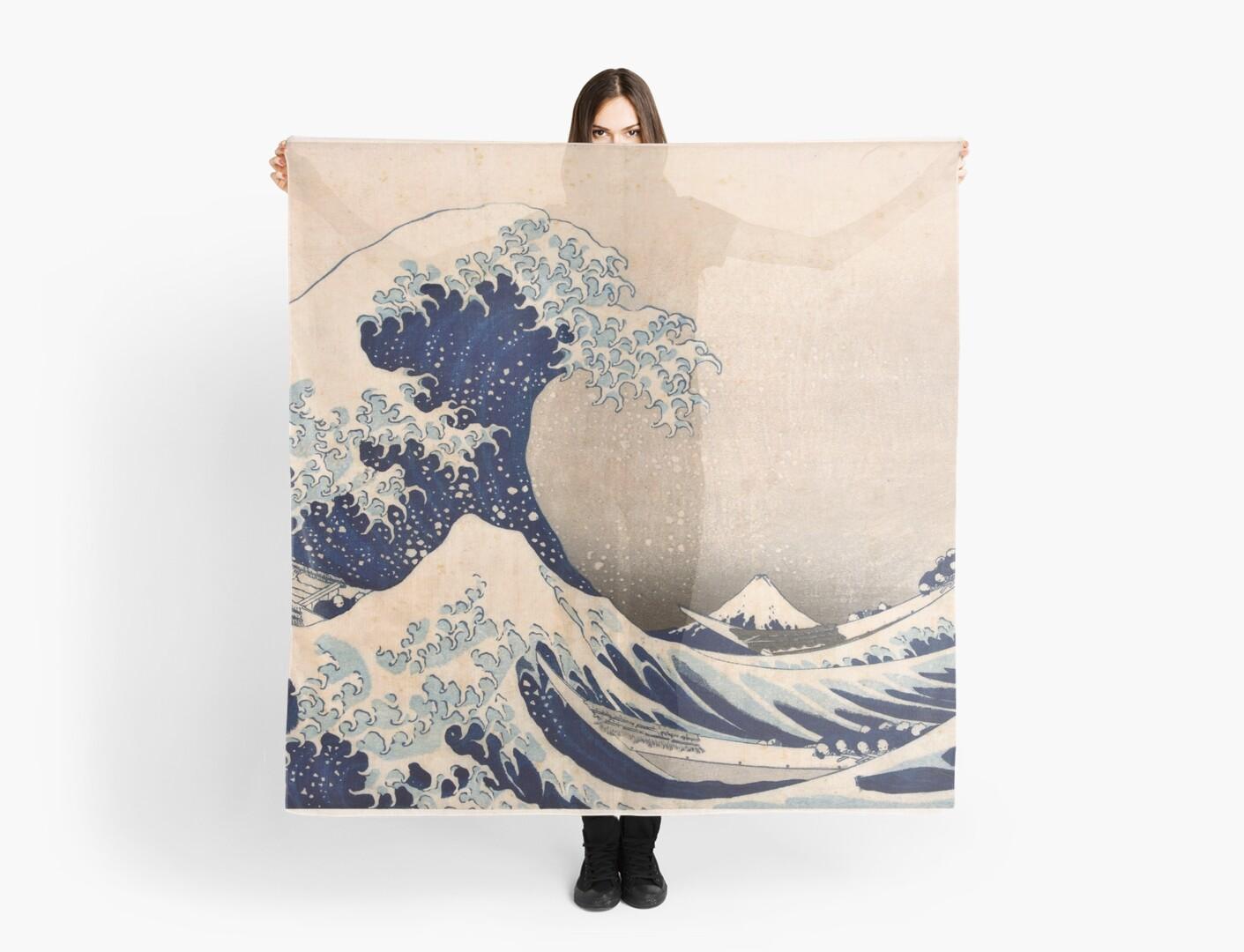 Classic Japanese Great Wave Off Kanagawa By Hokusai Wall Tapestry