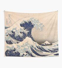 Tela decorativa Classic Japanese Great Wave de Kanagawa de Hokusai Wall Tapestry Traditional Version HD de alta calidad