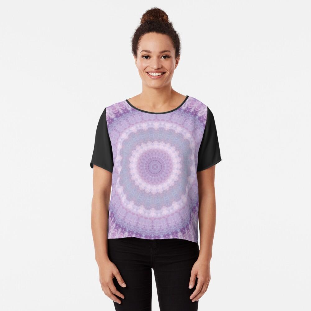 Lilac Kaleidoscope Chiffon Top