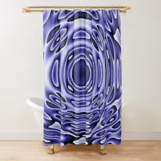 Psychodelia Purple Black and White Groovy Art - Trippy Design Gift Shower Curtain