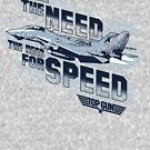 Top Gun - Ich habe das Bedürfnis nach Geschwindigkeit von Candywrap Design