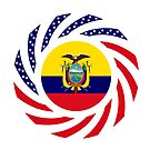 Ecuadorian American Multinational Patriot Flag Series (Asencio Edition) by Carbon-Fibre Media