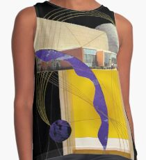 yellow space Sleeveless Top
