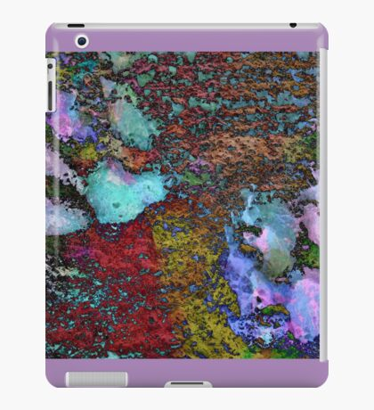 Paw Prints Lilac and Turquoise Pads iPad Case/Skin