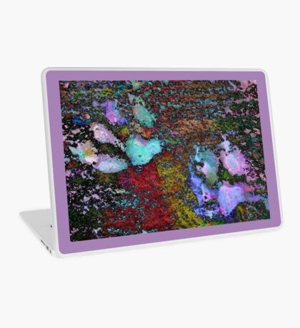 Paw Prints Lilac and Turquoise Pads Laptop Skin
