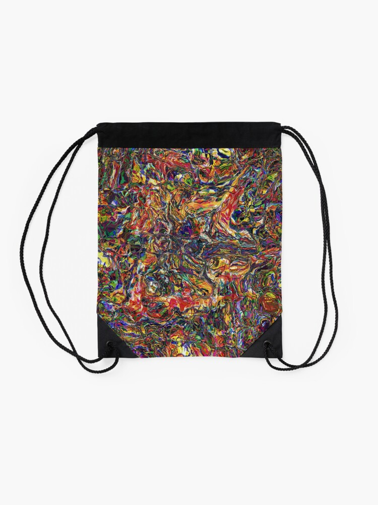 Alternate view of Chaos of Colors Drawstring Bag