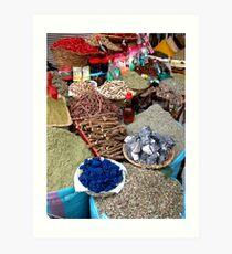 Spice Market. Art Print