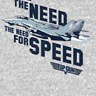 Top Gun - Ich habe das Bedürfnis nach Speed White von Candywrap Design