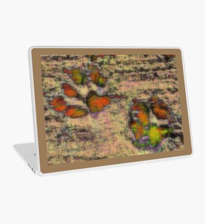 Paw Prints as Butterflies Laptop Skin