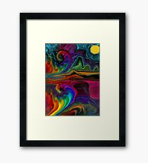 Mystic Madness of the Rainbow Framed Print