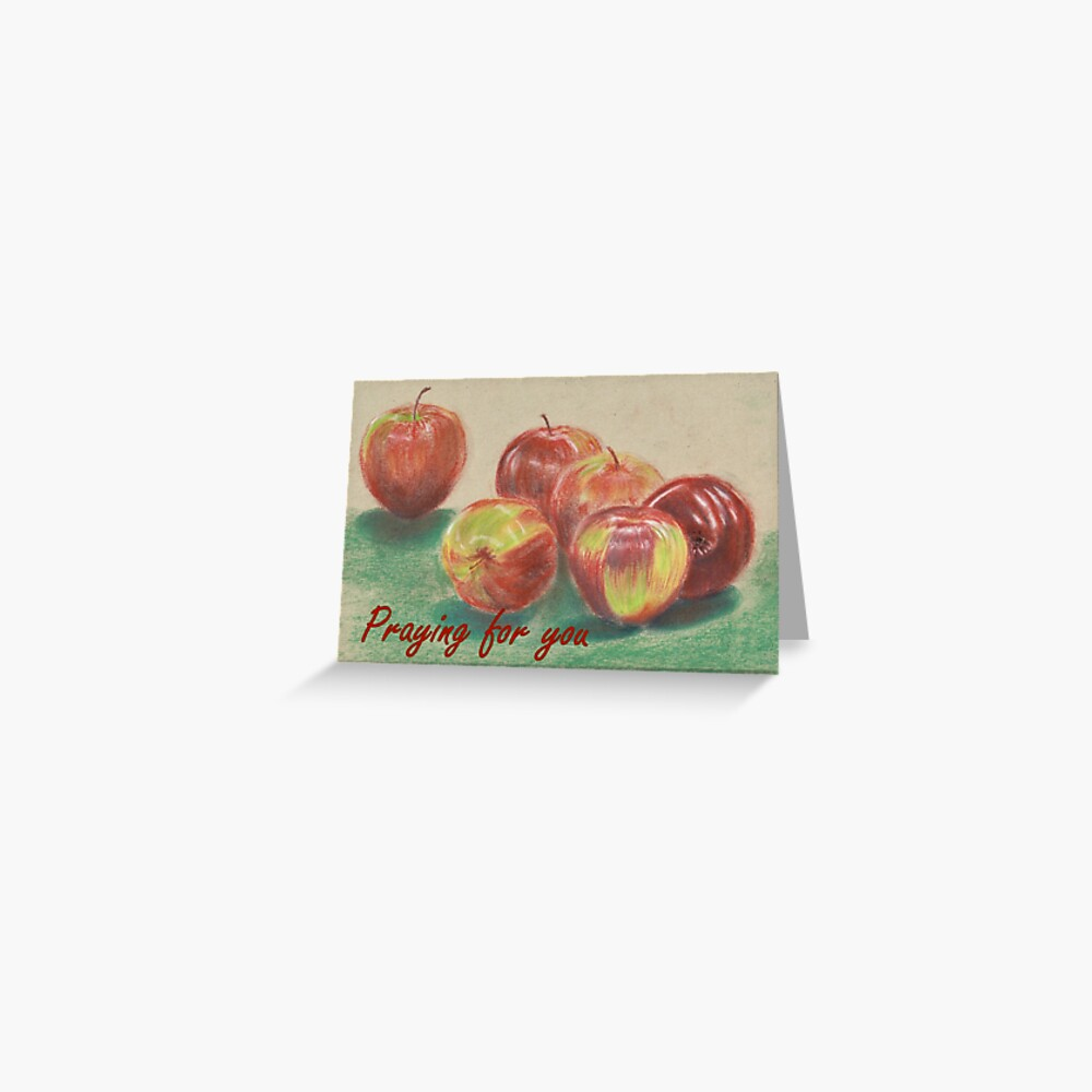Apples - Praying for You Card Greeting Card