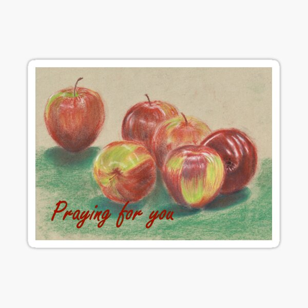 Apples - Praying for You Card Sticker