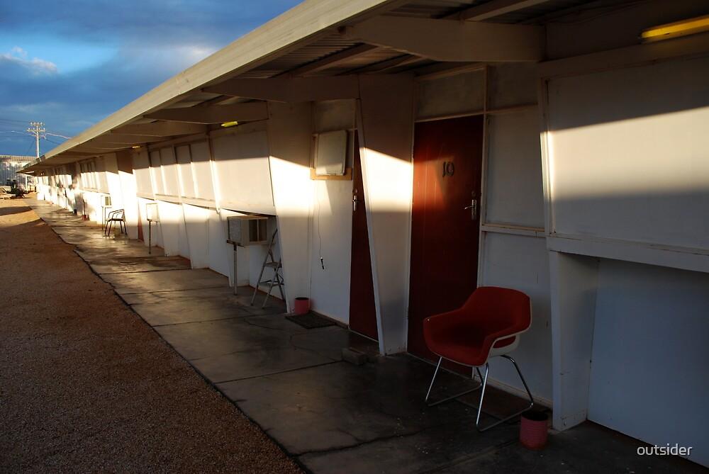 Retro Motel, Nullarbor Plain by outsider