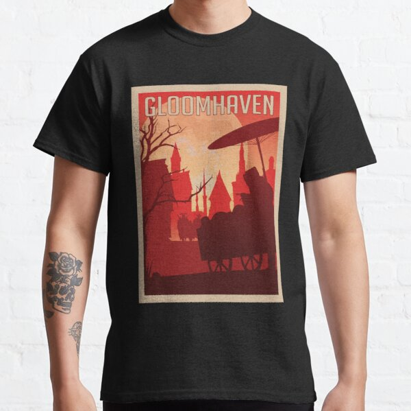 Gloomhaven Board Game- Minimalist Travel Poster Style - Gaming Art Classic T-Shirt