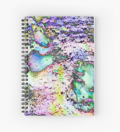 Paw Prints Vibrant Colours Spiral Notebook