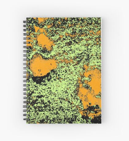 Paw Prints in Orange, Lime and Black Spiral Notebook