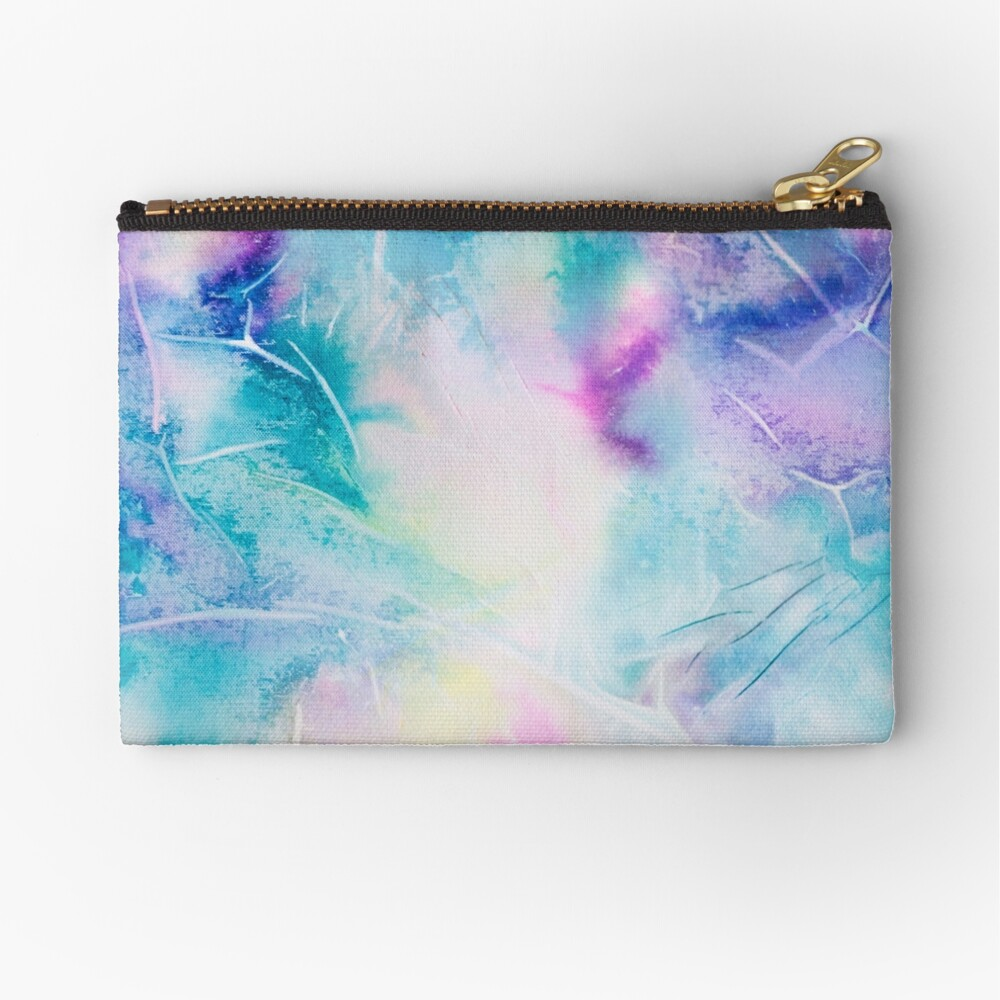 Inky pastel colorful handpainted texture Zipper Pouch