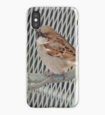 Sitting bird. iPhone Case/Skin
