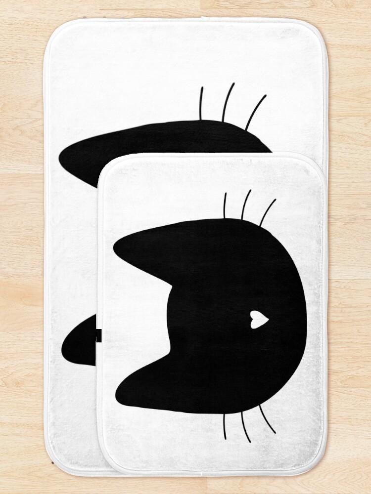 Alternate view of Cat Heart Nose Bath Mat