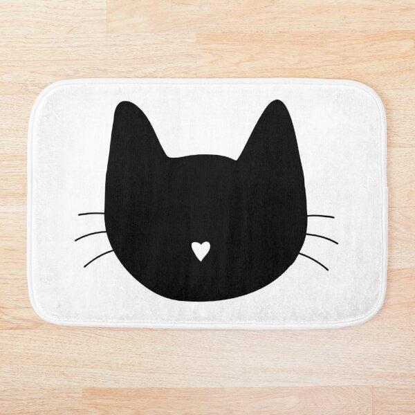Cat Heart Nose Bath Mat