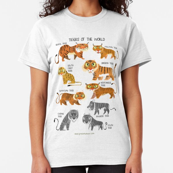 Tigers of the World Classic T-Shirt