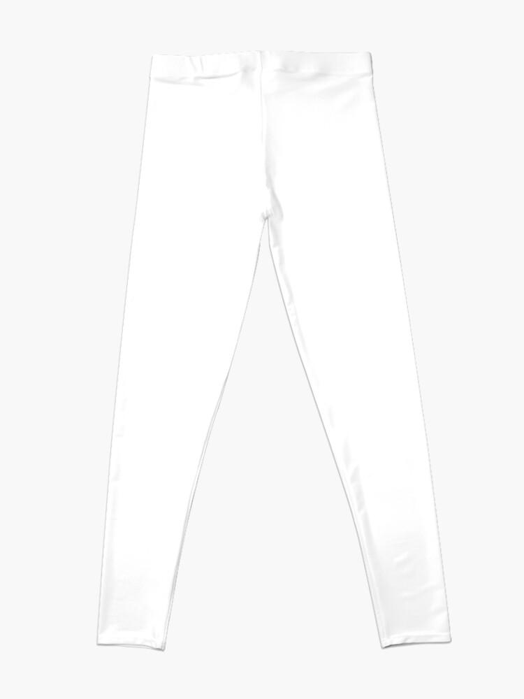 Alternate view of #Pattern, #design, #abstract, #textile, fiber, net, aluminum, grid, cotton, gray Leggings