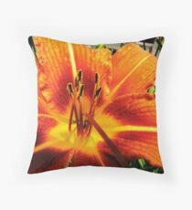 Day Lily For....AndreaEL Throw Pillow