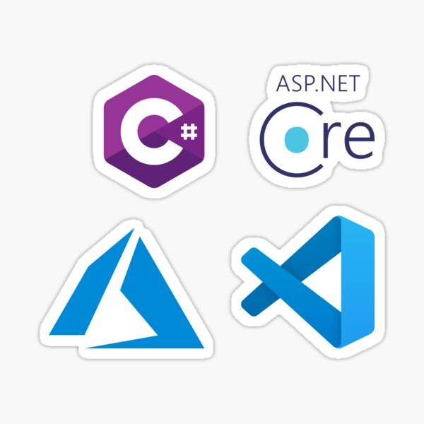 ASP.NET Core Development Combo Pack Pegatina
