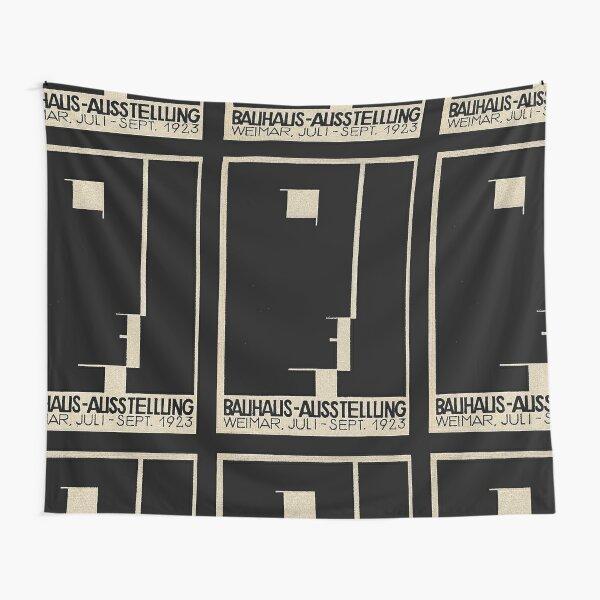 Bauhaus Logo on 1923 Weimar Advertisement Tapestry