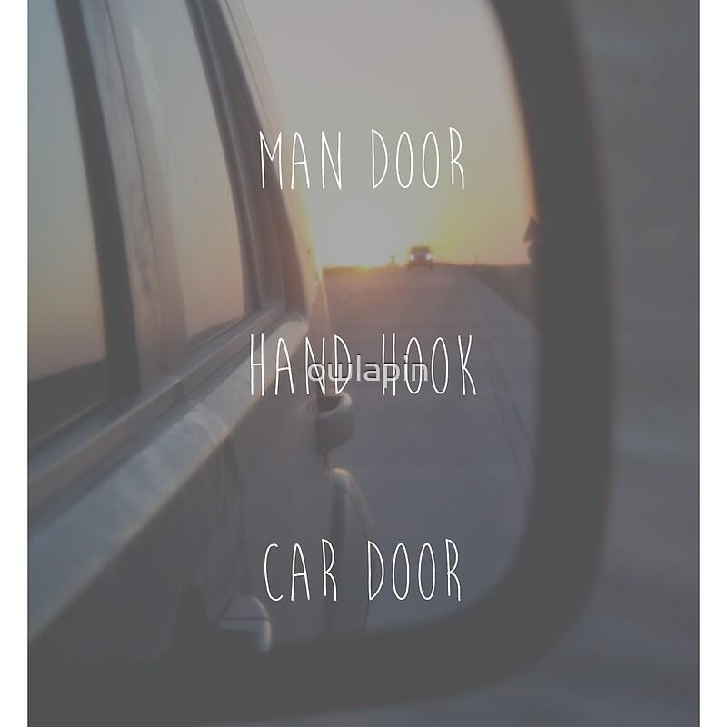 man door hand hook car door. man door hand hook car u