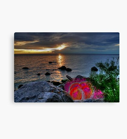PAINTED ROCK COVE  Canvas Print