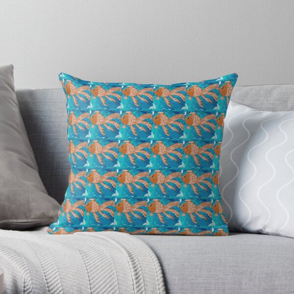 Goldie The fish Throw Pillow