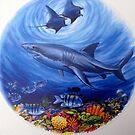 Great White Shark. by Robert David Gellion