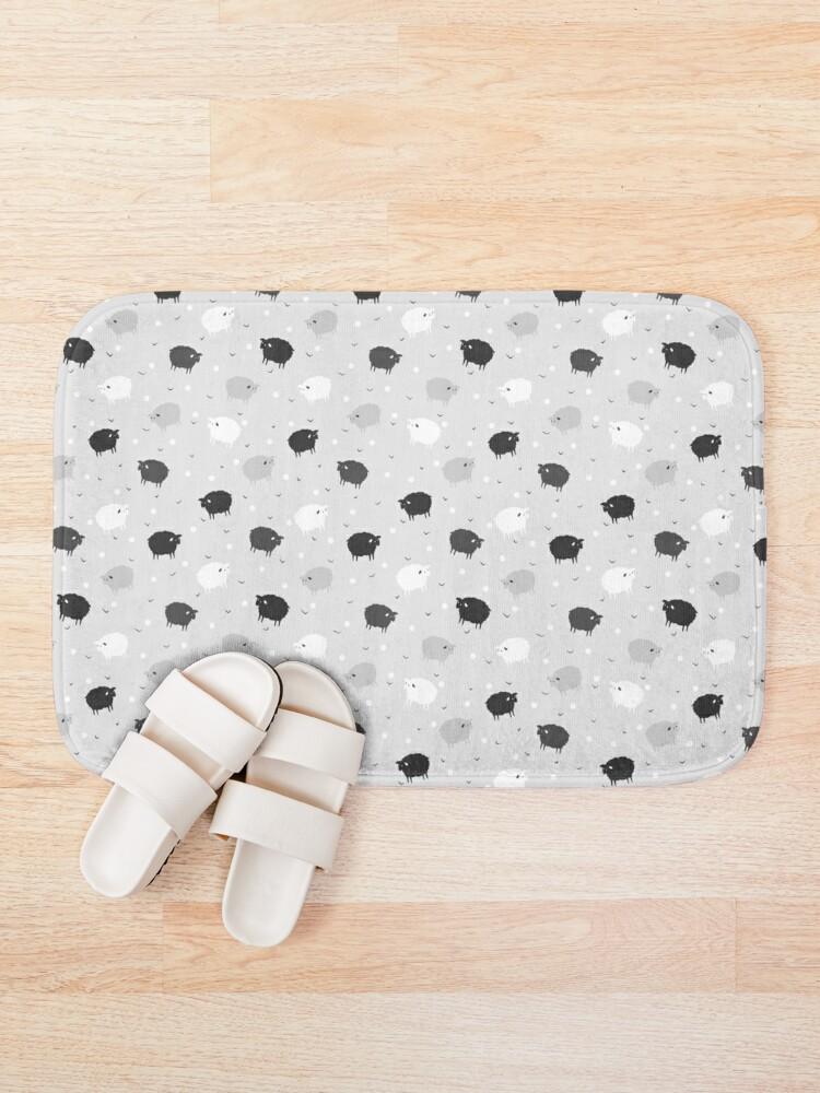 Alternate view of Сount Sheeps Away Pattern Bath Mat