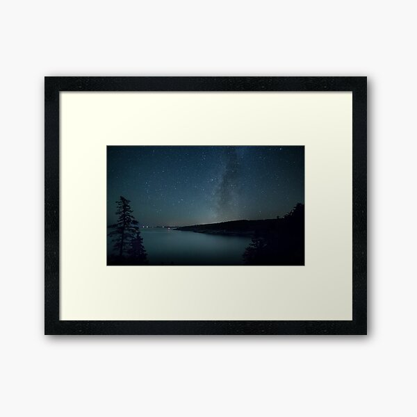 Acadian Milky Way Framed Art Print