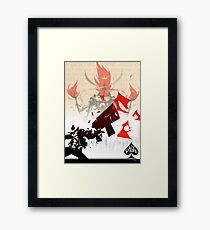 The Ace of Spades Framed Print